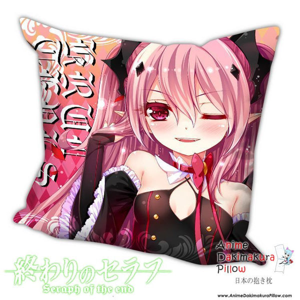 New Krul Tepes - Owari no Seraph Anime Dakimakura Square Pillow Cover H009 - Anime Dakimakura Pillow Shop | Fast, Free Shipping, Dakimakura Pillow & Cover shop, pillow For sale, Dakimakura Japan Store, Buy Custom Hugging Pillow Cover - 1