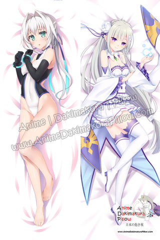 New Emilia Hermit - Hundred  Emilia -Re Zero Anime Dakimakura Japanese Hugging Body Pillow Cover ADP-16215B ADP-16214B - Anime Dakimakura Pillow Shop | Fast, Free Shipping, Dakimakura Pillow & Cover shop, pillow For sale, Dakimakura Japan Store, Buy Custom Hugging Pillow Cover - 1