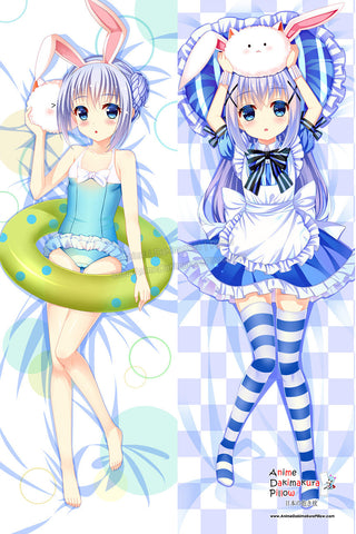 New Is the Order Rabbit Anime Dakimakura Japanese Hugging Body Pillow Cover ADP-511086 - Anime Dakimakura Pillow Shop | Fast, Free Shipping, Dakimakura Pillow & Cover shop, pillow For sale, Dakimakura Japan Store, Buy Custom Hugging Pillow Cover - 1