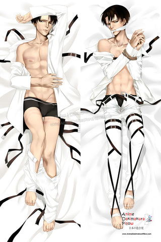 New Levi Ackerman - Attack on Titan Male Anime Dakimakura Japanese Hugging Body Pillow Cover ADP-511109 - Anime Dakimakura Pillow Shop | Fast, Free Shipping, Dakimakura Pillow & Cover shop, pillow For sale, Dakimakura Japan Store, Buy Custom Hugging Pillow Cover - 1