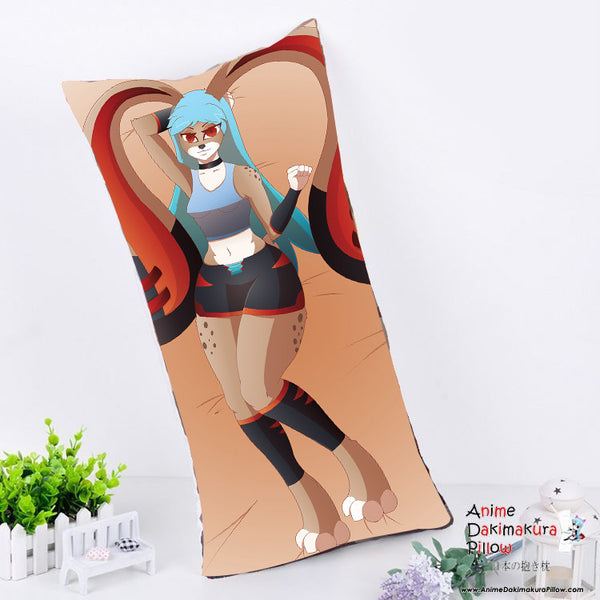 New Custom Made Bunny Eva Anime Dakimakura Rectangle Pillow Cover Custom Designer crimson-exe ADC100 - Anime Dakimakura Pillow Shop | Fast, Free Shipping, Dakimakura Pillow & Cover shop, pillow For sale, Dakimakura Japan Store, Buy Custom Hugging Pillow Cover - 1