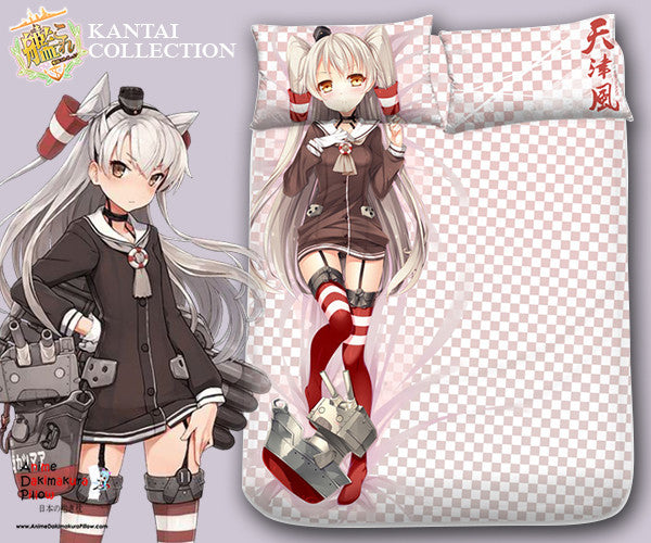 New Amatsukaze Kai - Kantai Collection Japanese Anime Bed Blanket or Duvet Cover with Pillow Covers Blanket 1