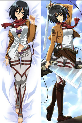 New Attack on Titan Mikasa Ackerman Anime Dakimakura Japanese Pillow Cover ADP-886 - Anime Dakimakura Pillow Shop | Fast, Free Shipping, Dakimakura Pillow & Cover shop, pillow For sale, Dakimakura Japan Store, Buy Custom Hugging Pillow Cover - 1