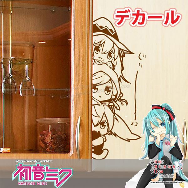 New Vocaloid Anime Wall Decal Japanese Waterproof Vinyl Sticker BOSTI001