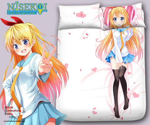 New Chitoge Kirisaki - Nisekoi Japanese Anime Bed Blanket or Duvet Cover with Pillow Covers Blanket 2 - Anime Dakimakura Pillow Shop | Fast, Free Shipping, Dakimakura Pillow & Cover shop, pillow For sale, Dakimakura Japan Store, Buy Custom Hugging Pillow Cover - 1
