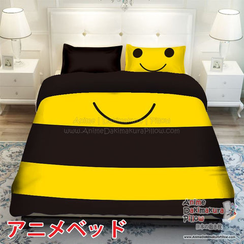 New Kawaii Bee Japanese Anime Bed Blanket or Duvet Cover with Pillow Covers ADP-CP150011 - Anime Dakimakura Pillow Shop | Fast, Free Shipping, Dakimakura Pillow & Cover shop, pillow For sale, Dakimakura Japan Store, Buy Custom Hugging Pillow Cover - 1