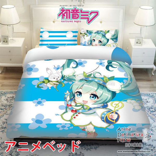New Hatsune Miku - Vocaloid Japanese Anime Bed Blanket or Duvet Cover with Pillow Covers ADP-CP150012