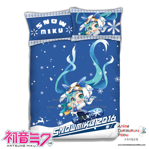 New Miku Hatsune - Vocaloid Japanese Anime Bed Blanket or Duvet Cover with Pillow Covers ADP-CP151204 - Anime Dakimakura Pillow Shop | Fast, Free Shipping, Dakimakura Pillow & Cover shop, pillow For sale, Dakimakura Japan Store, Buy Custom Hugging Pillow Cover - 1