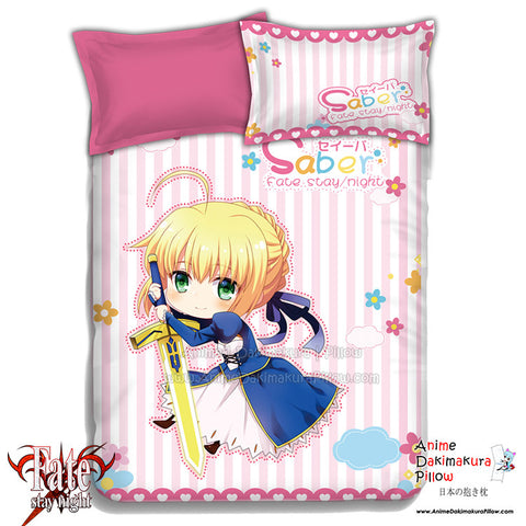 New Saber - Fate Stay Night Japanese Anime Bed Blanket or Duvet Cover with Pillow Covers ADP-CP151213 - Anime Dakimakura Pillow Shop | Fast, Free Shipping, Dakimakura Pillow & Cover shop, pillow For sale, Dakimakura Japan Store, Buy Custom Hugging Pillow Cover - 1