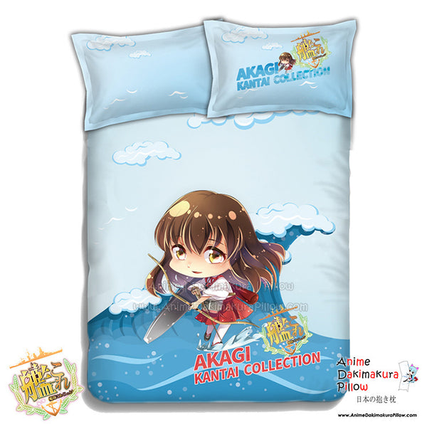 New Akagi - Kantai Collection Japanese Anime Bed Blanket or Duvet Cover with Pillow Covers ADP-CP151216 - Anime Dakimakura Pillow Shop | Fast, Free Shipping, Dakimakura Pillow & Cover shop, pillow For sale, Dakimakura Japan Store, Buy Custom Hugging Pillow Cover - 1