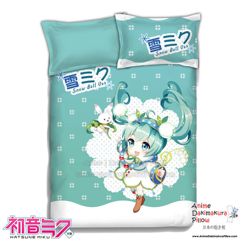 New Miku Hatsune - Vocaloid Japanese Anime Bed Blanket or Duvet Cover with Pillow Covers ADP-CP151222 - Anime Dakimakura Pillow Shop | Fast, Free Shipping, Dakimakura Pillow & Cover shop, pillow For sale, Dakimakura Japan Store, Buy Custom Hugging Pillow Cover - 1