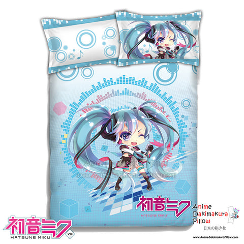 New Miku Hatsune - Vocaloid Japanese Anime Bed Blanket or Duvet Cover with Pillow Covers ADP-CP151223 - Anime Dakimakura Pillow Shop | Fast, Free Shipping, Dakimakura Pillow & Cover shop, pillow For sale, Dakimakura Japan Store, Buy Custom Hugging Pillow Cover - 1