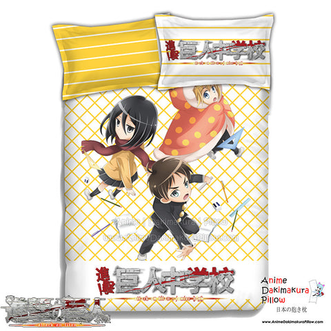 New Attack on Titan Japanese Anime Bed Blanket or Duvet Cover with Pillow Covers ADP-CP151232 - Anime Dakimakura Pillow Shop | Fast, Free Shipping, Dakimakura Pillow & Cover shop, pillow For sale, Dakimakura Japan Store, Buy Custom Hugging Pillow Cover - 1
