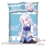 New Chino Kafuu - Is the Order Rabbit Japanese Anime Bed Blanket or Duvet Cover with Pillow Covers ADP-CP151233 - Anime Dakimakura Pillow Shop | Fast, Free Shipping, Dakimakura Pillow & Cover shop, pillow For sale, Dakimakura Japan Store, Buy Custom Hugging Pillow Cover - 1
