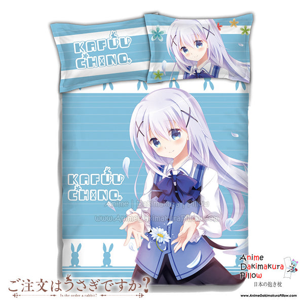 New Chino Kafuu - Is the Order Rabbit Japanese Anime Bed Blanket or Duvet Cover with Pillow Covers ADP-CP151233