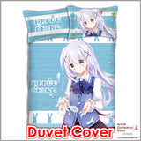 New Chino Kafuu - Is the Order Rabbit Japanese Anime Bed Blanket or Duvet Cover with Pillow Covers ADP-CP151233 - Anime Dakimakura Pillow Shop | Fast, Free Shipping, Dakimakura Pillow & Cover shop, pillow For sale, Dakimakura Japan Store, Buy Custom Hugging Pillow Cover - 3