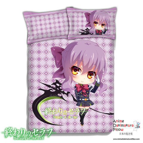 New Shinoa Hiragi - Seraph of the End Japanese Anime Bed Blanket or Duvet Cover with Pillow Covers ADP-CP151234b - Anime Dakimakura Pillow Shop | Fast, Free Shipping, Dakimakura Pillow & Cover shop, pillow For sale, Dakimakura Japan Store, Buy Custom Hugging Pillow Cover - 1