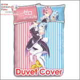 New Rem and Ram - Re Zero Japanese Anime Bed Blanket or Duvet Cover with Pillow Covers ADP-CP160407 - Anime Dakimakura Pillow Shop | Fast, Free Shipping, Dakimakura Pillow & Cover shop, pillow For sale, Dakimakura Japan Store, Buy Custom Hugging Pillow Cover - 3
