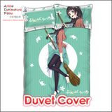 New Makoto Kowata - Flying Witch Japanese Anime Bed Blanket or Duvet Cover with Pillow Covers ADP-CP160504 - Anime Dakimakura Pillow Shop | Fast, Free Shipping, Dakimakura Pillow & Cover shop, pillow For sale, Dakimakura Japan Store, Buy Custom Hugging Pillow Cover - 3