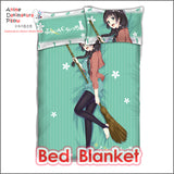New Makoto Kowata - Flying Witch Japanese Anime Bed Blanket or Duvet Cover with Pillow Covers ADP-CP160504 - Anime Dakimakura Pillow Shop | Fast, Free Shipping, Dakimakura Pillow & Cover shop, pillow For sale, Dakimakura Japan Store, Buy Custom Hugging Pillow Cover - 2