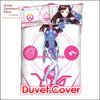 New D.Va - Overwatch Japanese Anime Bed Blanket or Duvet Cover with Pillow Covers ADP-CP160506 - Anime Dakimakura Pillow Shop | Fast, Free Shipping, Dakimakura Pillow & Cover shop, pillow For sale, Dakimakura Japan Store, Buy Custom Hugging Pillow Cover - 3