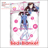New D.Va - Overwatch Japanese Anime Bed Blanket or Duvet Cover with Pillow Covers ADP-CP160506 - Anime Dakimakura Pillow Shop | Fast, Free Shipping, Dakimakura Pillow & Cover shop, pillow For sale, Dakimakura Japan Store, Buy Custom Hugging Pillow Cover - 2