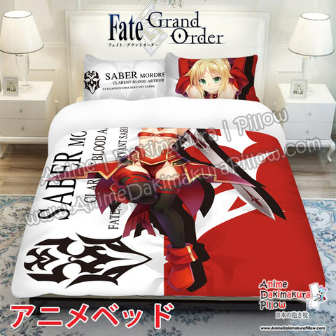 New Mordred - Fate Grand Order Japanese Anime Bed Blanket or Duvet Cover with Pillow Covers ADP-CP170003