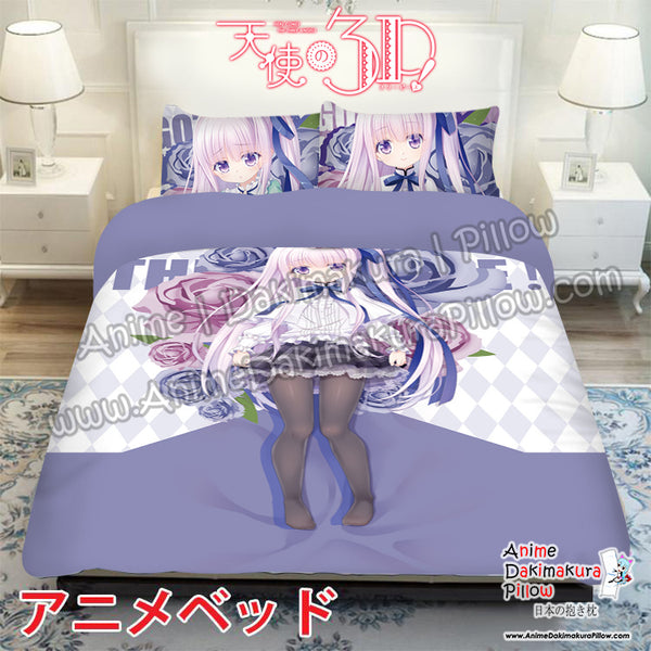 New Gotou Jun -Tenshi no 3P! Japanese Anime Bed Blanket or Duvet Cover with Pillow Covers ADP-CP170011