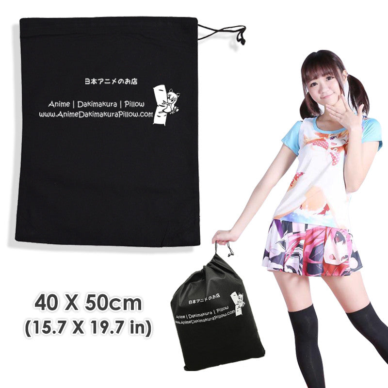 New Black ADP Travel Tote Bag Dakimakura Storage Pouch Non-woven Sackpack Bag 40 X 50 cm ( 15.7 X 19.7 in)