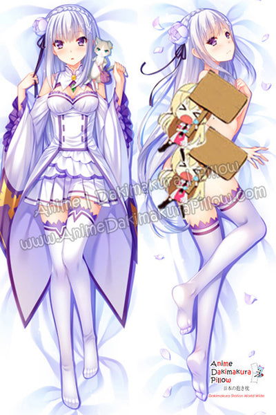 New Emilia - Re Zero Anime Dakimakura Japanese Hugging Body Pillow Cover H09873