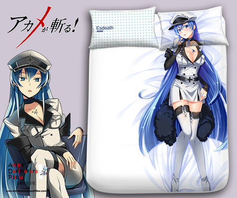 New Esdeath - Akame ga Kill Japanese Anime Bed Blanket or Duvet Cover with Pillow Covers Blanket 1 - Anime Dakimakura Pillow Shop | Fast, Free Shipping, Dakimakura Pillow & Cover shop, pillow For sale, Dakimakura Japan Store, Buy Custom Hugging Pillow Cover - 1