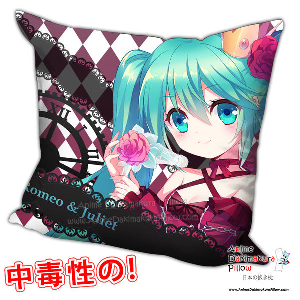 New Hatsune Miku - Vocaloid Anime Dakimakura Square Pillow Cover H0203 - Anime Dakimakura Pillow Shop | Fast, Free Shipping, Dakimakura Pillow & Cover shop, pillow For sale, Dakimakura Japan Store, Buy Custom Hugging Pillow Cover - 1