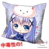 New Chino Kafuu - Is the Order Rabbit Anime Dakimakura Square Pillow Cover H0207 - Anime Dakimakura Pillow Shop | Fast, Free Shipping, Dakimakura Pillow & Cover shop, pillow For sale, Dakimakura Japan Store, Buy Custom Hugging Pillow Cover - 1