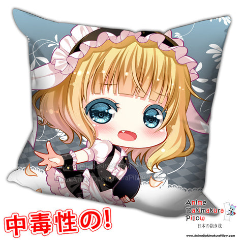New Kirima Sharo - Is the Order Rabbit Anime Dakimakura Square Pillow Cover H0209 - Anime Dakimakura Pillow Shop | Fast, Free Shipping, Dakimakura Pillow & Cover shop, pillow For sale, Dakimakura Japan Store, Buy Custom Hugging Pillow Cover - 1