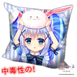 New Chino Kafuu - Is the Order Rabbit Anime Dakimakura Square Pillow Cover H0214 - Anime Dakimakura Pillow Shop | Fast, Free Shipping, Dakimakura Pillow & Cover shop, pillow For sale, Dakimakura Japan Store, Buy Custom Hugging Pillow Cover - 1
