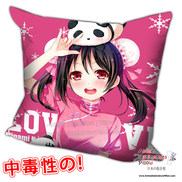 New Yazawa Nico - Love Live Anime Dakimakura Square Pillow Cover H0219 - Anime Dakimakura Pillow Shop | Fast, Free Shipping, Dakimakura Pillow & Cover shop, pillow For sale, Dakimakura Japan Store, Buy Custom Hugging Pillow Cover - 1