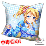 New Ayase Eli - Love Live Anime Dakimakura Square Pillow Cover H0226 - Anime Dakimakura Pillow Shop | Fast, Free Shipping, Dakimakura Pillow & Cover shop, pillow For sale, Dakimakura Japan Store, Buy Custom Hugging Pillow Cover - 1