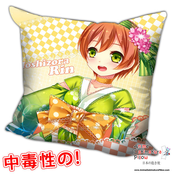 New Rin Hoshizora - Love Live Anime Dakimakura Square Pillow Cover H0227 - Anime Dakimakura Pillow Shop | Fast, Free Shipping, Dakimakura Pillow & Cover shop, pillow For sale, Dakimakura Japan Store, Buy Custom Hugging Pillow Cover - 1