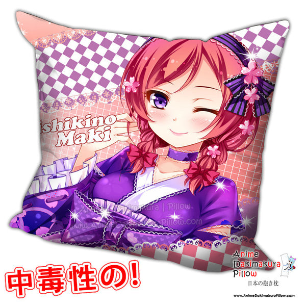 New Maki Nishikino - Love Live Anime Dakimakura Square Pillow Cover H0231