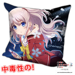 New Charlotte Anime Dakimakura Square Pillow Cover H0242