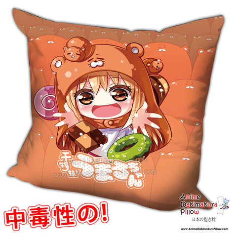 New Umaru Doma - Himouto Umaru Chan Anime Dakimakura Square Pillow Cover H0252 - Anime Dakimakura Pillow Shop | Fast, Free Shipping, Dakimakura Pillow & Cover shop, pillow For sale, Dakimakura Japan Store, Buy Custom Hugging Pillow Cover - 1