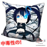 New Black Rock Shooter Anime Dakimakura Square Pillow Cover H0257 - Anime Dakimakura Pillow Shop | Fast, Free Shipping, Dakimakura Pillow & Cover shop, pillow For sale, Dakimakura Japan Store, Buy Custom Hugging Pillow Cover - 1