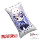 New Chino Kafuu - Is the Order Rabbit Anime Dakimakura Rectangle Pillow Cover H0286 - Anime Dakimakura Pillow Shop | Fast, Free Shipping, Dakimakura Pillow & Cover shop, pillow For sale, Dakimakura Japan Store, Buy Custom Hugging Pillow Cover - 1