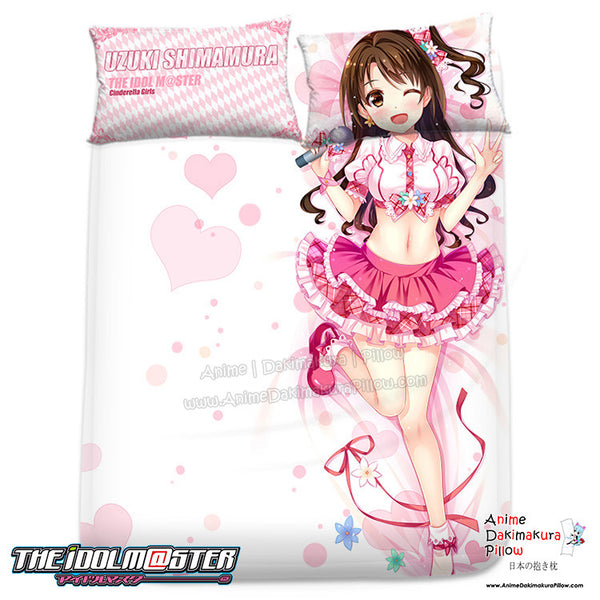 New Uzuki Shimamura - The Idolmaster Japanese Anime Bed Blanket or Duvet Cover with Pillow Covers H0312 - Anime Dakimakura Pillow Shop | Fast, Free Shipping, Dakimakura Pillow & Cover shop, pillow For sale, Dakimakura Japan Store, Buy Custom Hugging Pillow Cover - 1