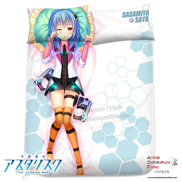 New Sasamiya Saya - The Asterisk War Japanese Anime Bed Blanket or Duvet Cover with Pillow Covers H0315