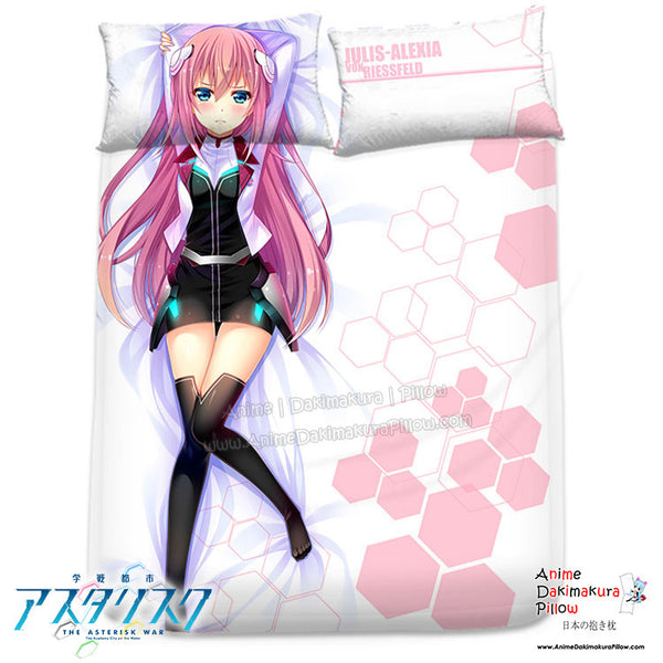 New Julis Alexia - The Asterisk War Japanese Anime Bed Blanket or Duvet Cover with Pillow Covers H0317 - Anime Dakimakura Pillow Shop | Fast, Free Shipping, Dakimakura Pillow & Cover shop, pillow For sale, Dakimakura Japan Store, Buy Custom Hugging Pillow Cover - 1