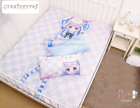 New Chino Kafuu - Is the Order Rabbit Japanese Anime Bed Blanket or Duvet Cover with Pillow Covers H0321 - Anime Dakimakura Pillow Shop | Fast, Free Shipping, Dakimakura Pillow & Cover shop, pillow For sale, Dakimakura Japan Store, Buy Custom Hugging Pillow Cover - 1