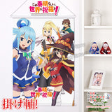 New Kono Suba Japanese Anime Wall Scroll Poster and Banner H0334 - Anime Dakimakura Pillow Shop | Fast, Free Shipping, Dakimakura Pillow & Cover shop, pillow For sale, Dakimakura Japan Store, Buy Custom Hugging Pillow Cover - 1