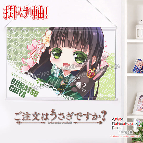 New Is the Order a Rabbit - Chiya Ujimatsu Japanese Anime Wall Scroll Poster and Banner H0352 - Anime Dakimakura Pillow Shop | Fast, Free Shipping, Dakimakura Pillow & Cover shop, pillow For sale, Dakimakura Japan Store, Buy Custom Hugging Pillow Cover - 1