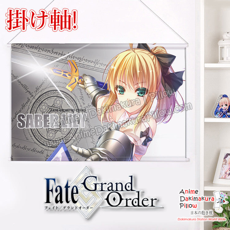 New Fate grand Order - Saber Lily Japanese Anime Wall Scroll Poster and Banner H0353